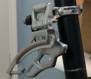 New SRAM X9 - 3x9 Speed High Clamp Top Pull Front Derailleur