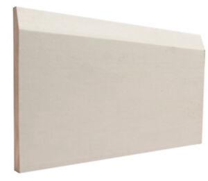 1/2-in x 4 3/4-in Bevel Primed MDF  Baseboard Moulding (new)