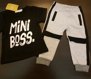 """Mini Boss"" Outfit (Size 2-3T); Brand New"