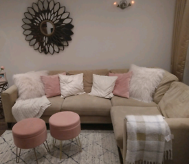 Dfs corner sofa and arm chair