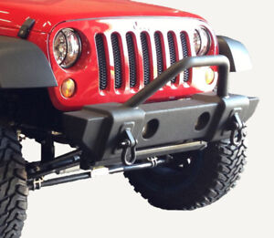 Jeep Stubby Metal Front Bumper with D Ring for Wrangler JK 07-18