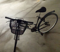 A fantastic, newly tuned up bike with a basket