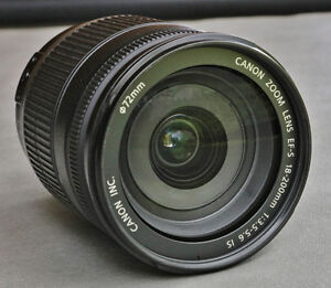 Canon EFS 18-200mm f3.5-5.6 IS lens. Excellent condition!