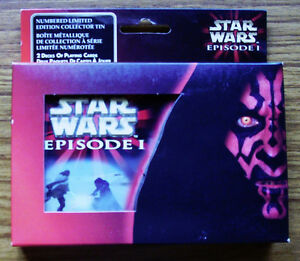 STAR WARS EPISODE 1 - LTD. ED. COLLECTOR'S TIN + PLAYING CARDS