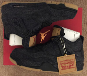 Exclusive Black Denim Jordan x Levis 4s | Size 8