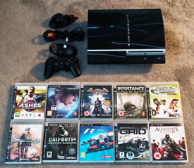 Ps3 80 gb 1 controllers 18 Games, fully working with all leads