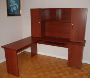 L-Shaped Desk with Top for moving sale