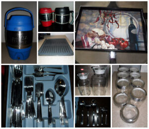 Kitchen & Home Decor Items - Cutlery, Serving Tray, Glass Jars