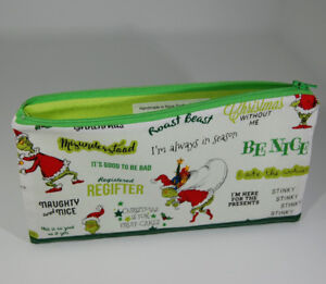 Christmas themed Lined Pencil Cases - in Cotton