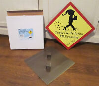 2 Christmas Elf Crossing Signs - New in Box