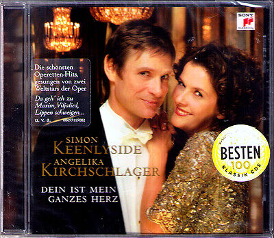 Angelika KIRCHSCHLAGER & Simon KEENLYSIDE Dein ist mein ganzes Herz CD Lehar NEU