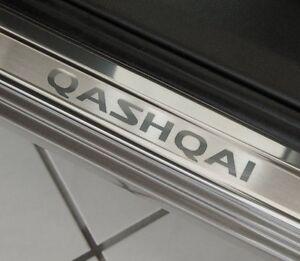 Nissan Qashqai J10 Edelstahl  Einstiegsleisten  mit QASHQAI Logo