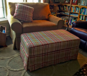 New Lazyboy Chair-And-A-Half with Ottoman