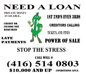 LOANS.. 2nd MORTGAGE MONEY FROM PRIVATE EQUITY LENDER