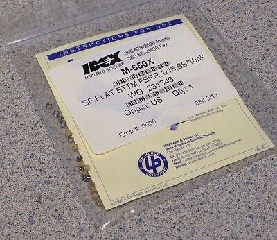 Upchurch Idex M-650x M650x Super Flangeless Ferrule 6-32 Or 6-40 Flat-bottom