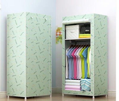 E171 Portable Durable Closet Cloth Organiser Storage Cherry Wardrobe 70X150CM Z for sale  Shipping to United States