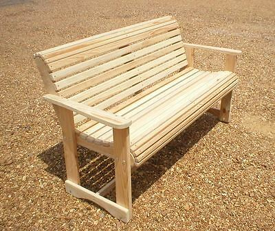 Garden Bench Outdoor Wooden Bench Cypress Unfinished Made In USA Choose a - Cypress Furniture Garden Chair