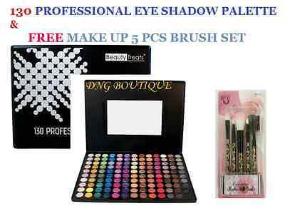 130 Color Eye shadow +FREE BRUSH SET Matte Shimmer PRO GLITT