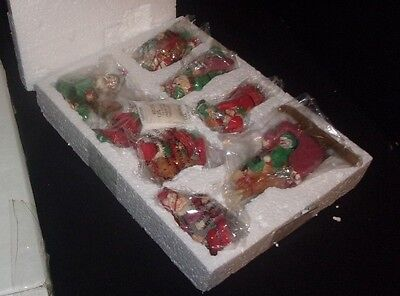 Vintage Christmas Elf Ornaments - Set of Seven - Original Box!