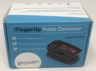 Iproven Pulse Oximeter Fingertip Blood Oxygen Saturation Monitor Case 1-27 Mi