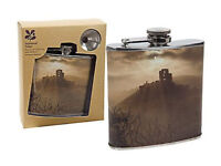 New National Trust Corfe Collection Stainless Steel Hip Flask for sale; from a smoke free place