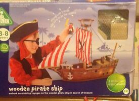 BRAND NEW!! ELC Wooden Pirate Ship, still in the original packaging!