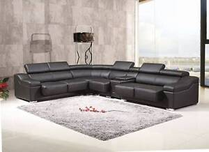 Manchester Cowhide Top Grain Leather Sofa Lounge Real LEATHER YFF Auburn Auburn Area Preview