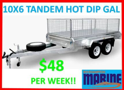 BRAND NEW 10X6 TANDEM FULLY HOT DIP GALVANISED BOX TRAILER!!!! Allenstown Rockhampton City Preview