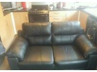As new leather sofa free delivery