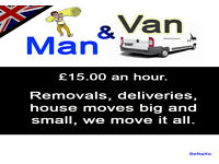 Man with a Van, Removals, deliveries, moving house. Penylan, Cardiff.