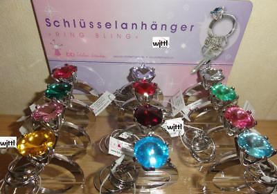 Schlüsselanhänger RING BLING - Diamant - Schlüsselring - Schlüssel - Funkel- NEU
