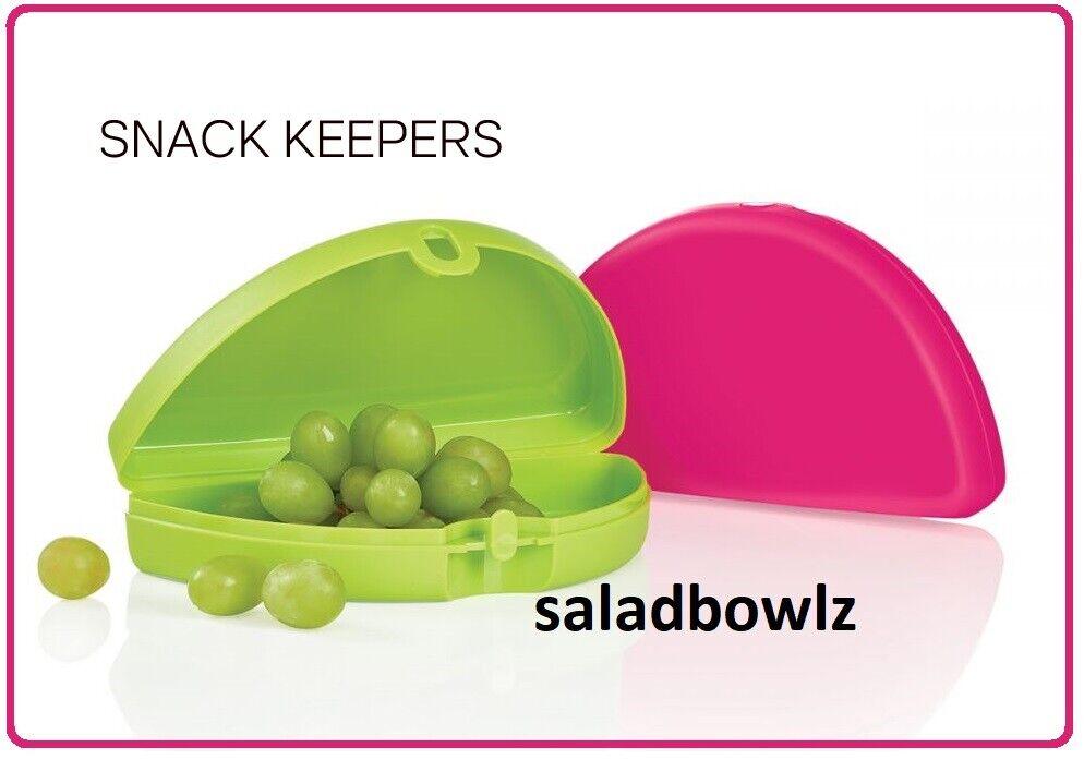 TUPPERWARE New SNACK KEEPERS Folded Half Circle Keeper SET O