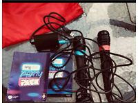 Original 2 x Singstar Wireless Microphones & 2 wired singstar microphones with adapter and case