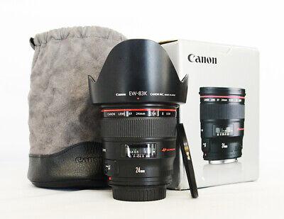 """# Canon EF 24mm  f/1.4 II EF L USM Lens + BW filter """"Mint"""" S/N 6684535"""