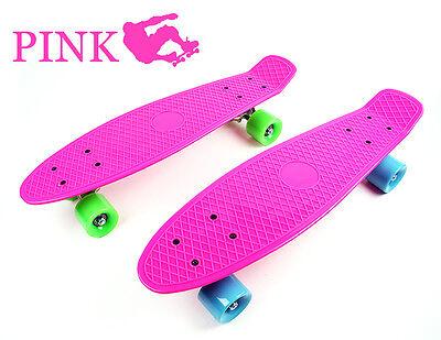 "22"" Mini Skateboard Cruiser Style Plastic Complete Deck Skate Board"