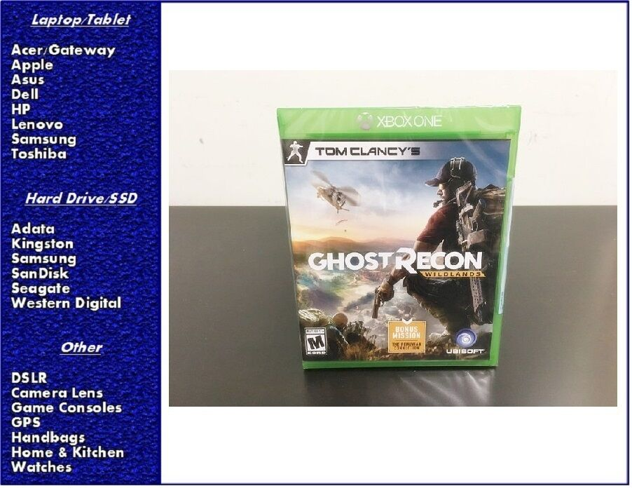 Tom Clancy's Ghost Recon: Wildlands Xbox One, New, Sealed