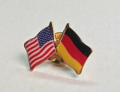 GERMANY and USA Crossed Friendship Flag Lapel Pin **MADE IN USA** - Germany Lapel Pin