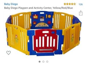 Baby Diego playpen and activity centre
