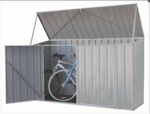 Absco Bike Shed 2.26m x 0.78m x 1.31m in Zinc FOR SALE