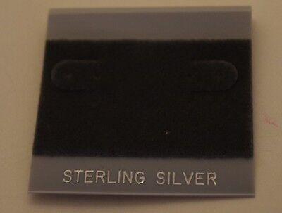 100ct Lot Sterling Silver Gray Felt Plastic Holder Hanging Earrings Display Card