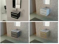 bathroom wall hung vanity unit and sink