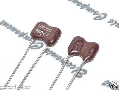 2pcs - Kahgan 100p 100pf 0.1nf 500v 1 Silvered Mica Capacitor
