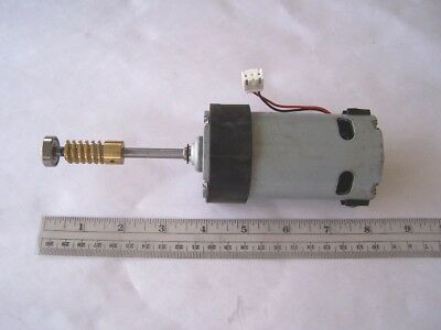 Electric Motor 100 Vdc With Worm Gear Used Tested Ok.