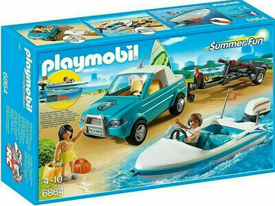 Playmobil 6864  Surfer Pickup Truck Speedboat & Motor Brand New