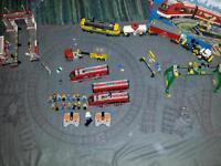 Lego trains and train stasjon - cargo and passanger