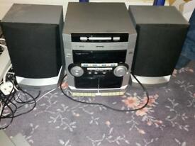 Hifi cd player tape decks radio