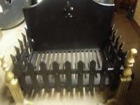 Cast iron wood fire basket