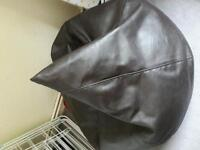 Leather Seat beanbag with matching footrest