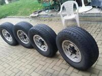 Toyota hilux land cruiser ford ranger japenese 4x4 wheels with tyres