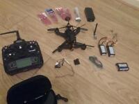 Walkera f210 fpv fatshark predator v2 drone quadcopter swap for dji